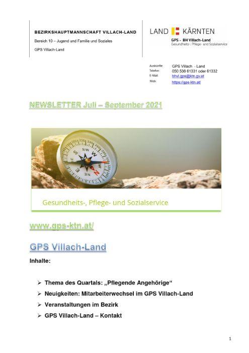 Newsletter Juli - September 2021