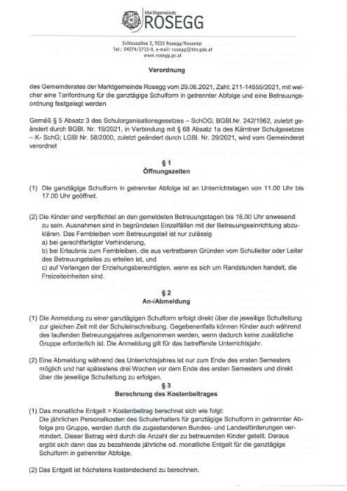 Verordnung des Gemeinderates vom 29. Juni 2021 Zahl: 211-14555/2021