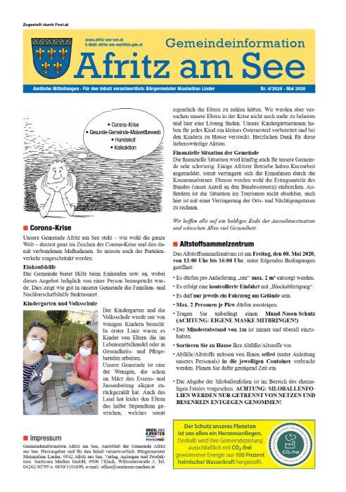 Gemeindeinformationsblatt April 2020