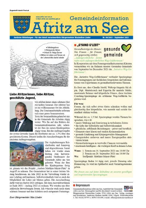 Gemeindeinformationsblatt September 2021