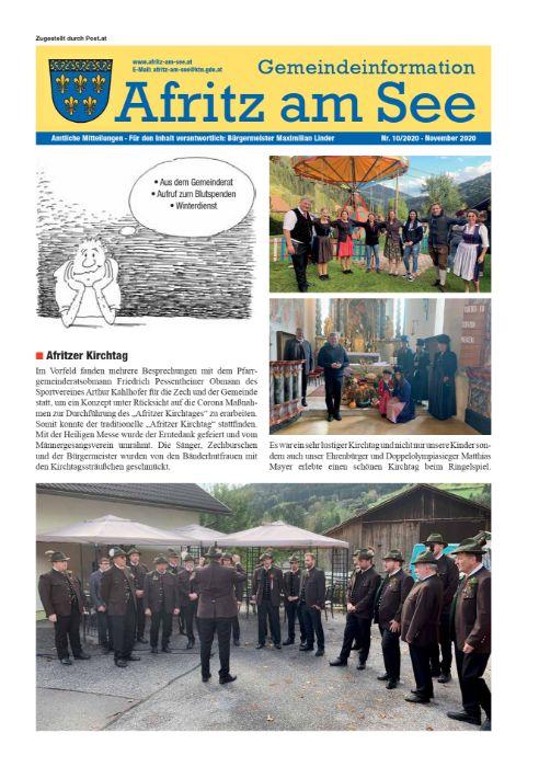 Gemeindeinformationsblatt November 2020