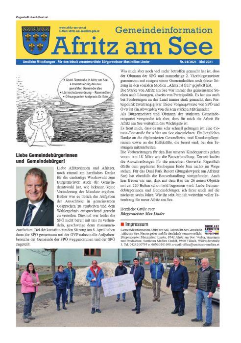Gemeindeinformationsblatt Mai 2021