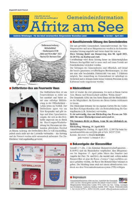 Gemeindeinformationsblatt April 2021