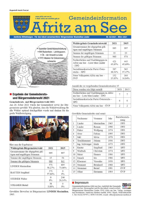 Gemeindeinformationsblatt März 2021