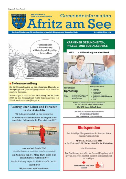 Gemeindeinformationsblatt März 2020